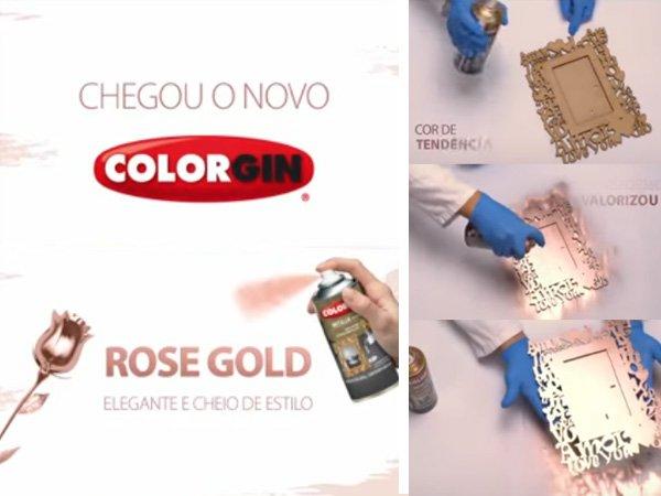 chegou o novo color gin rose gold